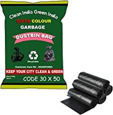 Giftscolour Jumbo Garbage Bags/Trash Bags/Dustbin Bags (30 X 50 inches) Pack of 5 (50 Pieces) 10 Pcs Each Pack