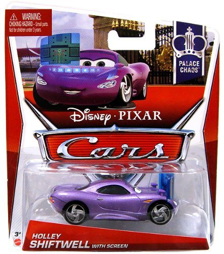 Disney Pixar CARS 2 Movie 1:55 Die Cast Car Holley Shiftwell with Screen