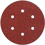 Wolfcraft 1838000 Disques auto-agrippant grain assortis Diamètre 150 lot de 12