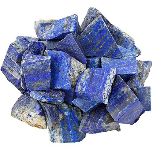 mookaitedecor Lapislazuli Rohstück Steine, Mineral Edelsteine für Familie / Büro / Garten / Aquarium Dekoration Schmückung, Kristall Reiki & Heilung (460g)