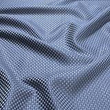 Stoff Viskose Baumwolle Panama eisblau Polsterstoff 40.000