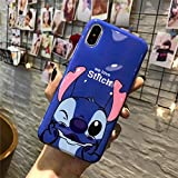 Générique New Disney Minnie Cartoons Transparent Coque Souple en TPU pour Apple iPhone 5/5s 6/6s iphone 7/8 (iphone 6/6s, Stitch 1)