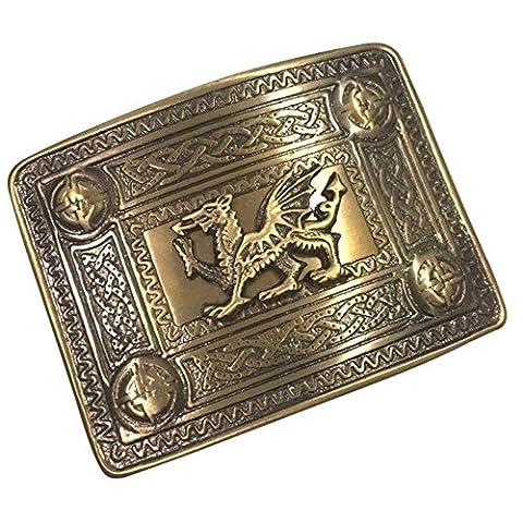 Tartan City Scottish Kilt Belt Buckle Welsh Dragon Antique Finish/Celtic