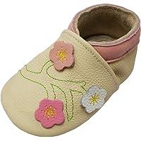 YALION Chaussures Cuir Souple Bébé Et Bambin - Bébé Fille Garçon Chaussons - Chaussures Premiers Pas pour bébé