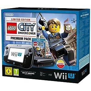 Nintendo Wii U – Konsole, Premium Pack, 32GB, schwarz – Lego City Undercover