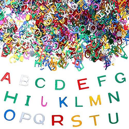 Goldge 4000pc Buchstaben Konfetti Schulanfang Einschulung ABC Buchstaben Streudeko Hochzeit Tischdeko