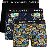 Jack & Jones Lot de 3 Boxers en Coton pour Homme Core S M L XL XXL - Multicolore - Large