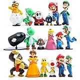 Funnyshow 18 pièces Figurine Super Mario, Super Mario Figurines PVC Jouets de Fête d'anniversaire