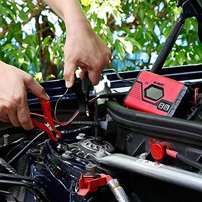 61h6Hn1tmZL. SS416  - SUAOKI - Cargador de Baterias Coche, Moto, 4A, 6/12V, Mantenimiento Automático e Inteligente, 8 Cargas Etapas Identificación, Carga Segmentada con Múltiples Protecciones Para Coche, Camión, Moto