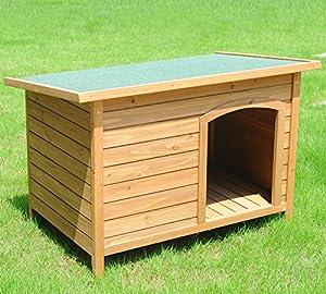 Woltu ht2021XXL Niche pour chien chien Résiste aux intempéries chien Niche bois massif 103x 71x 66