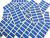 200 Labels, 25x12mm Rectangle, Royal Blue, Colour Code Stickers, Self-Adhesive Sticky Coloured Labels