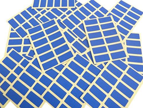 Minilabel Lot de 200étiquettes autocollantes rectangulaires Bleu roi 25 x 12mm