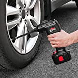 Air Hawk Pro Car Tyre Inflator - Handheld Electric Compressor, Digital Pressure Gauge - Includes LCD Display, LED Light, Pin Attachments & Car Adapter Bild 5