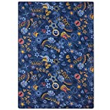 Design Teppich Retro Teppich Paisley Teppich 133 x 190 cm Pop Love Design in 2 Farben, Farbe:blau
