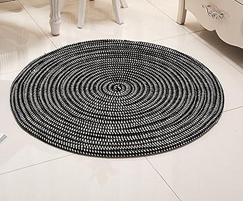 Tapis rond, série de corde Coussin de chaise d'ordinateur Ensemble