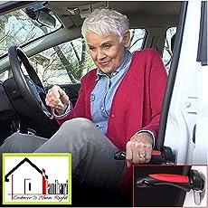Panihari Car Cane Auto Handgreep Cane Handle Flashlight seat Belt Cutter Glass Breaker Mobility Standing Aid