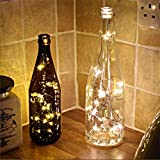 AccMart LED Bottle Cork String Light,Warm White Wine Bottle Lights,20 LEDS 2M Wine Bottle Cork Spark Starry Fairy String Light Battery-operated Lamp Decoration for Home Decorative,Wine Bottle DIY, Party,Wedding Decorations,Holiday