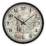 Orologio da parete di grandi dimensioni Shabby Chic stile vintage con la statua di Libertà Clock ( Size : 14in )