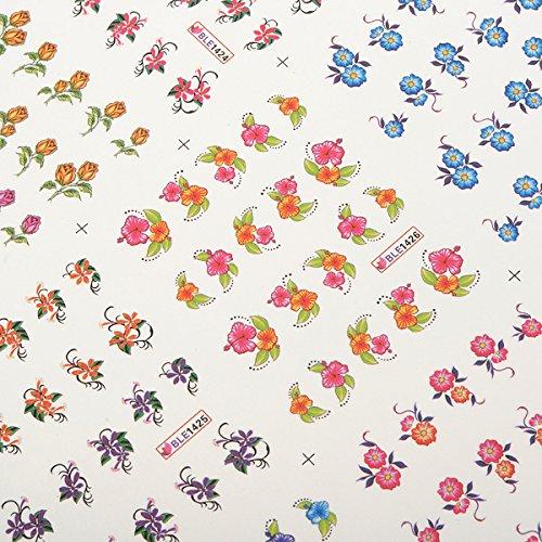 Bluelover 3D Blumen Cartoons Muster Nail Art Dekoration