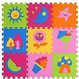 XMTMMD Puzzle Spielmatte baby Krabbeldecke Spielmatte Set weichen ineinandergreifende SCHAUMSTOFF EVA Boden Fliesen für Kinder spielen AMP023G3010