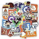 Zorux – 50 Coole Programmier-Aufkleber Logo, Internet-Software-Aufkleber, lustiges Geschenk für Geeks, Hacker, Entwickler, zum Basteln von Laptops und Handys