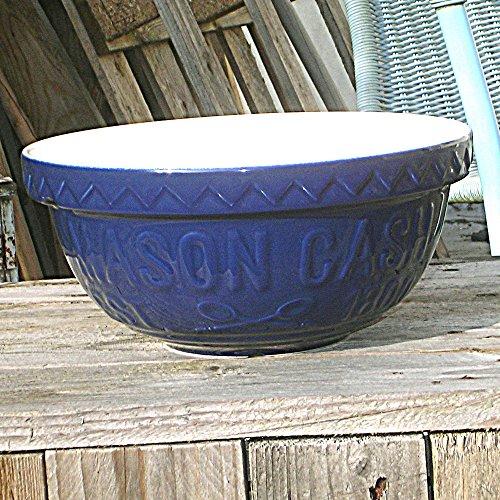 Mason Cash Bol à mélanger S12 Varsity - Bleu et blanc - 29 cm