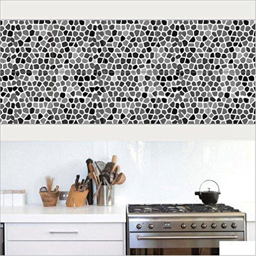 20*100cm*2pcs stück Mediterraner Stil Fliesen Aufkleber Sticker Folie selbstklebend für Küche und Bad Tile Style Decals | | Deko Fliesenfolie für Küche u. Bad cz025 , 20cm*100cm*2pcs