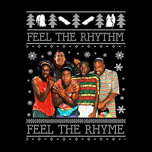 Feel The Rhythm Cool Runnings Christmas Knit Women's Vest Black