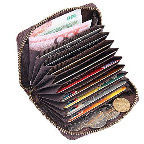 Portafogli Uomo Porta Carte Credito Portamonete con cerniera in pelle RFID Portafoglio portamonete con portamonete Alta qualità in vera pelle Porta carte di credito