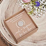 Ginger Ray Wedding Day Lucky Six Pence For The Bride Keepsake - Rustic Country