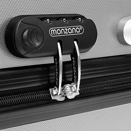 Hartschale Hartschalenkoffer Hard Shell Solo Trolley Koffer Reisekoffer Gepäck Rollkoffer ABS-Schale - Alu-Teleskopgriff - gummierte Rollen - Zahlenschloss - L hellblau -