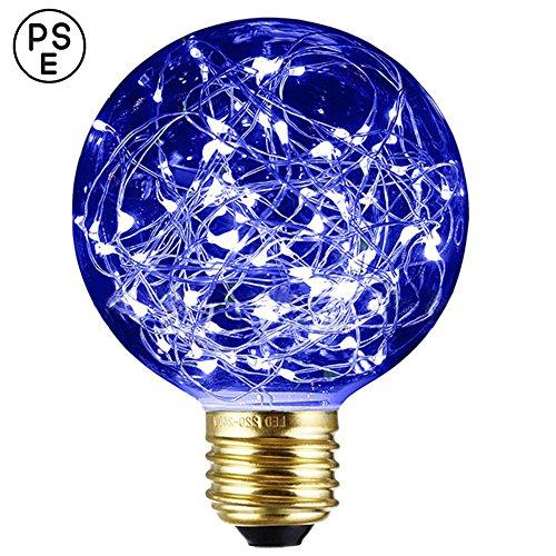 Xinrong Ampoule décorative LED Motif ciel étoilé Filaments Edison en cuivre Culot E27 220 V 3 W Économie d'énergie Style vintage Pour décoration intérieure, fêtes de Noël, suspension , bleu, E27 3.0 wattsW 220.0 voltsV