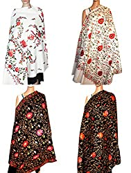 Summer Sale- Set of Four Beautiful Embroidery shawl for women