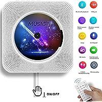 AONCO Portátil Bluetooth Reproductor de CD con control remoto Radio FM Altavoces de alta fidelidad incorporados Conector de auriculares Salida de entrada USB / AUX incorporada, Blanco