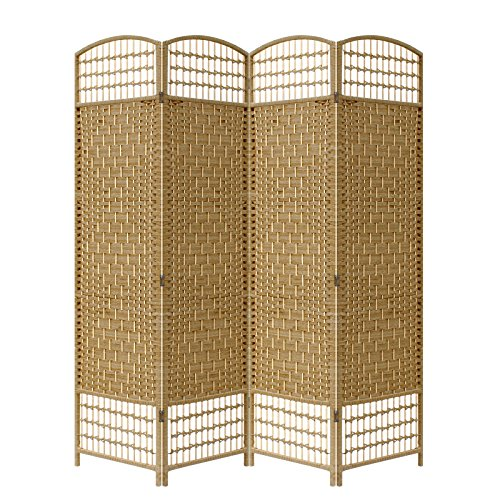 natural-brown-colour-4-panel-hand-made-wicker-room-divider-partition-privacy-screen-next-working-day