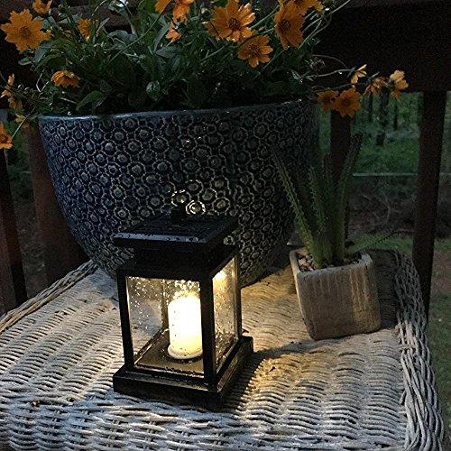 Solarlaterne für Außen Led Laterne Solar mit Kerzen Lichteffekt Derlights 4 Stücke Solarlaterne Außenleuchte Wasserdicht, Dekoration Lampen für Garten Deko, Terassen...