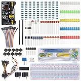 Bonega Elektronisches Component Learning Kit für Arduino Raspberry Pi mit Breadboard Kabel Widerstand, Kondensator, LED, Potentiometer TE715