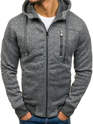 BOLF – Felpa con cappuccio – Con cerniera – Sweatshirt – T&C STAR TC70 – Uomo Antracite