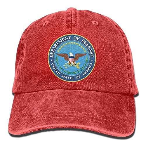 Fun Life Art Department of Defense Logo Unisex Erwachsene einstellbare Jeans Dad Hats