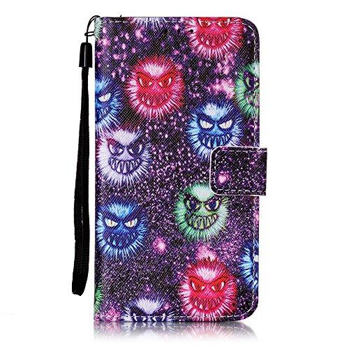 Qiaogle Telefon Case - PU Leder Wallet Schutzhülle Case für Apple iPhone 7 (4.7 Zoll) - YB25 / Baum YB30 / Monster