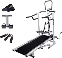 Lifeline Treadmill with Sweat Belt, Tummy Trimmer and Skipping Rope