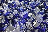 Steingrau Glasbrocken Glassplitt Dekoglas Gabionen Korngrößen 60-120mm kobaltblau 10 kg