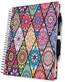 Tools4Wisdom 2018 Planner Diary with Pages in Colour - 1 Week to View A5 Organiser with Calendar - Daily Weekly Monthly Yearly Agenda Book (Harry Potter Sneakoscope Inspired Art, Hardcover)