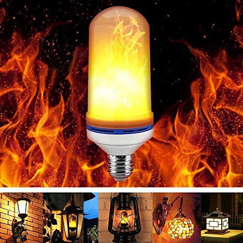 Escomdp Flame Bombilla LED con 3 Modelo E27 Base SMD Fuente LED para Atmósfera Festiva Iluminación, Iluminación Común (Una pieza)