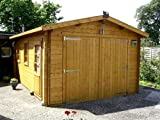 Blockhaus Garage - Carport - 380 cm x 530 cm - 45mm - Blockhaus-Garage