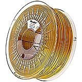 Minadax® 1kg Premium Qualitaet 3mm (2,85mm) PLA-Filament gold fuer 3D-Drucker hergestellt in Europa