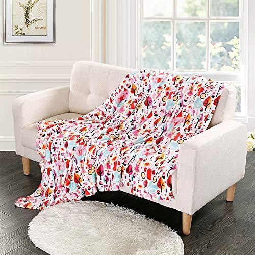 I-baby coperta neonato estiva per lettino bambini copertina bambino della di flanella di lusso morbidezza 3d stampa 100x150cm (castello di fantasia)