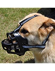 Pets Empire Soft Silica Gel Dog Muzzles,Adjustable Anti Biting Chewing Barking Training Dog Muzzle 1 Piece (Color May Vary) (M (5 no))