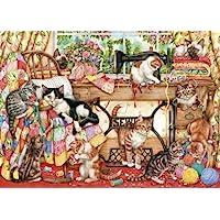 Gibsons G6108 - Gatti e macchina da cucire - Puzzle 1000 pezzi