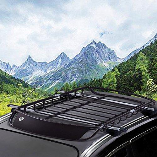 Zoom IMG-2 costway cestello portapacchi universale cesto